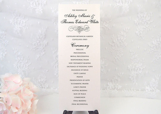ELEGANT SCROLL Ceremony Wedding Programs (Set of 20)