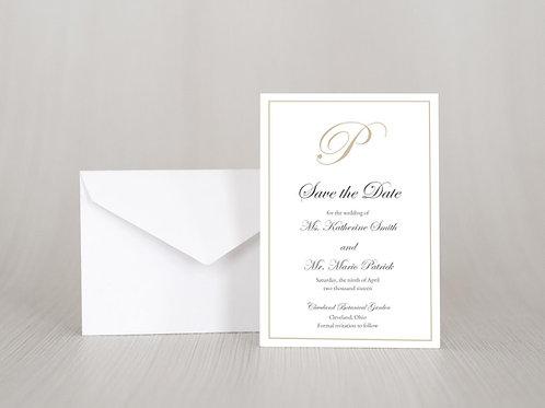 KATHERINE Save the Date Invitation & Envelope (Set of 20)