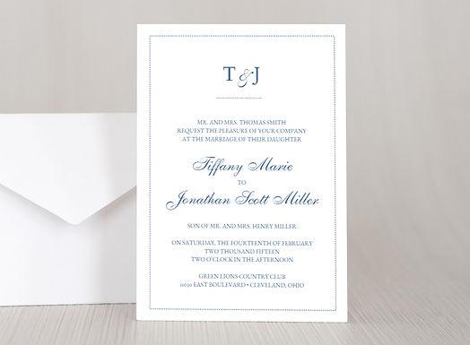 DOTS Wedding Invitation & RSVP Card w/ Envelopes (Set of 20)