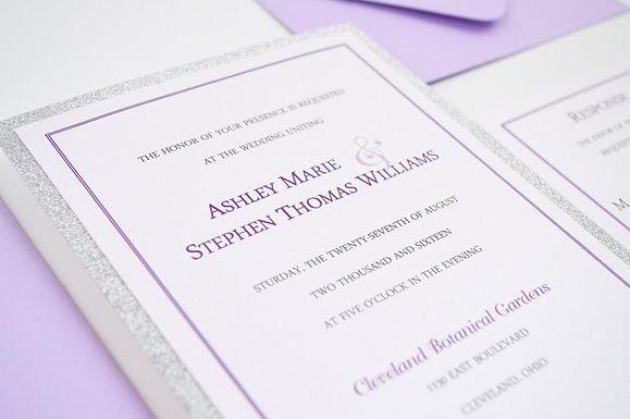 SIMPLY MODERN Layered Wedding Invitation & RSVP Card (Sample)