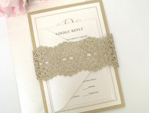 SIMPLE MONOGRAM Layered Wedding Invitation & RSVP Card (Sample)