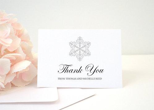 WINTER WONDERLAND Thank You Cards + Envelopes with Return Addressing | Set of 10