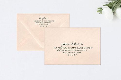 CHIC Envelope A7 Envelope Addressing (Style #113) | Set of 10