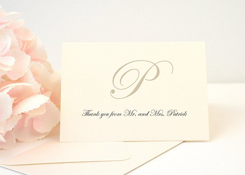 KATHERINE Thank You Cards + Envelopes with Return Addressing | Set of 10
