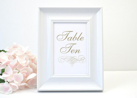 ELEGANT SCROLL Table Numbers