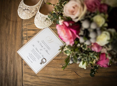 Elegant Katherine Wedding Invitation in Sand and White Shimmer by Red Heart Paper Wedding Invitations and Stationery