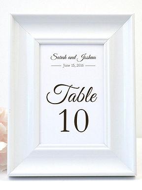 ELEGANT SCRIPT Table Numbers