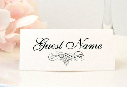 Elegant Scroll Place Card
