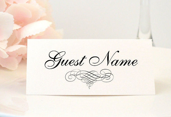 ELEGANT SCROLL Place Card (Set of 20)