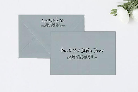 CHIC Addressed Envelopes Style #115 (Set of 20)