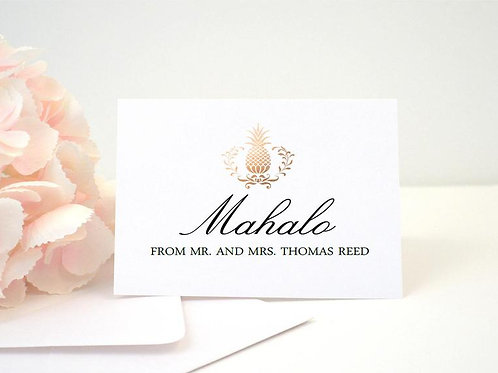 MAHALO Thank You Cards & Envelopes (Set of 10)
