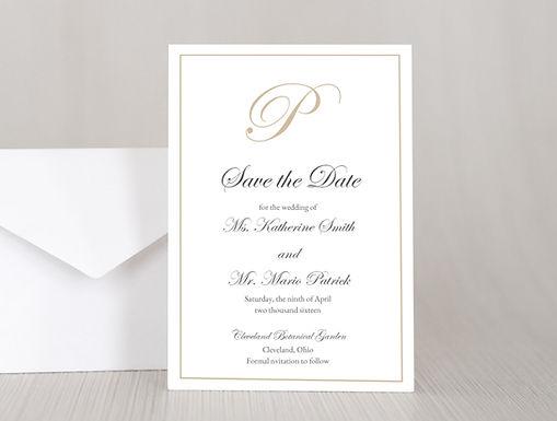 KATHERINE Wedding Invitation & RSVP Card w/ Envelopes (Set of 20)