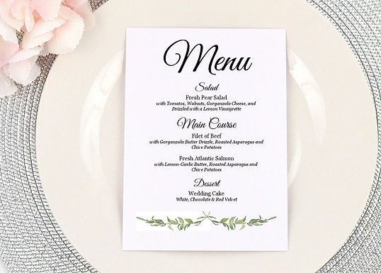 LAUREL LEAVES Menus | Set of 10