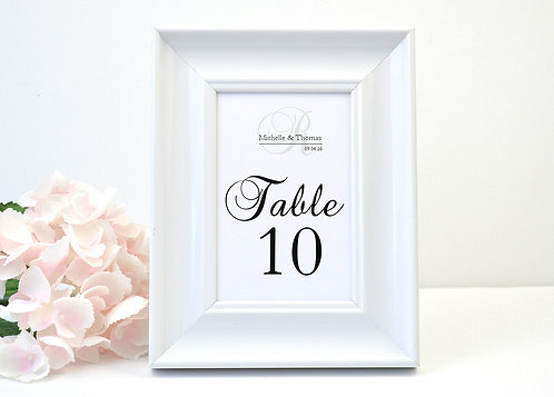 Elegant Monogram Table Numbers