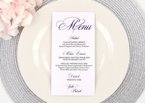 Formal Ampersand Menu
