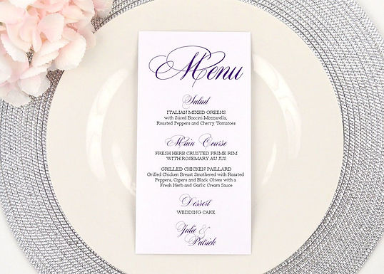 FORMAL AMPERSAND Menus (Set of 20)