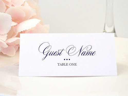 Formal Ampersand Place Card