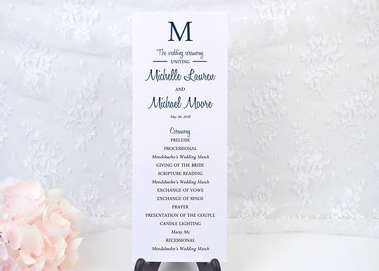 SIMPLY MODERN Wedding Ceremony Programs (Set of 20)