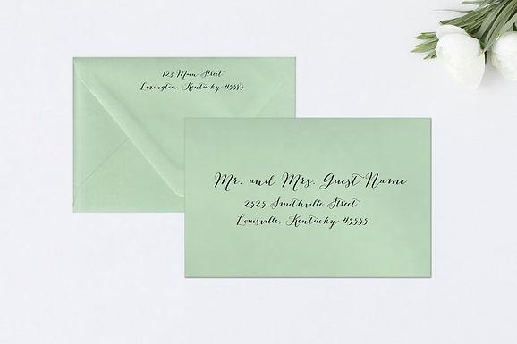 BOMBSHELL Addressed Envelopes Style #105 (Set of 20)