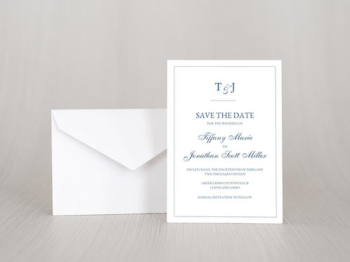 DOTS Save the Date Invitation & Envelope (Set of 20)