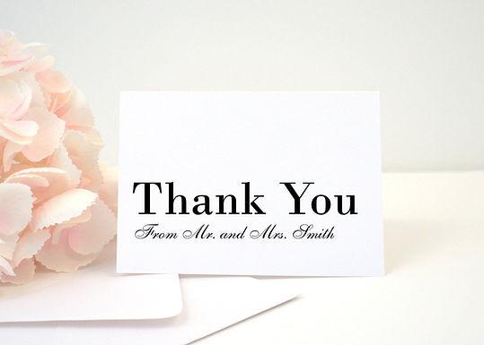 MODERN SCRIPT Thank You Cards & Envelopes (Set of 10)