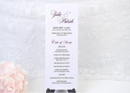 ELEGANT AMPERSAND Ceremony Wedding Programs (Set of 20)