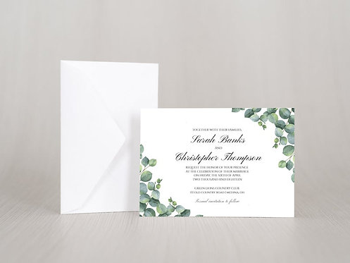 Elegant Eucalyptus Wedding Invitation Set