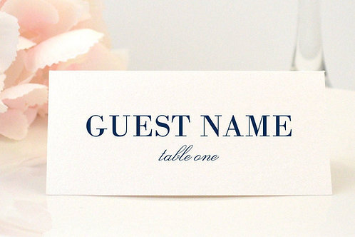 Simple Elegance Place Card