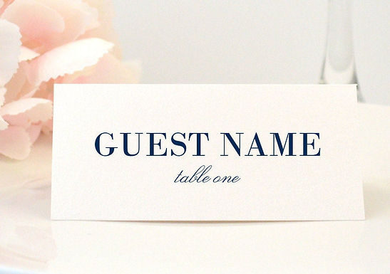 SIMPLE ELEGANCE Place Card (Set of 20)