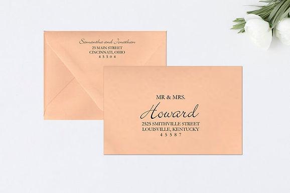 ELEGANT SCRIPT Addressed Envelopes Style #112 (Set of 20)