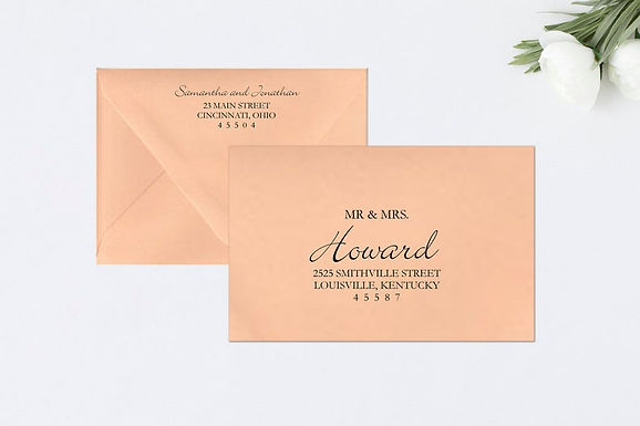 ELEGANT SCRIPT Addressed Envelopes Style #112 (Set of 20)