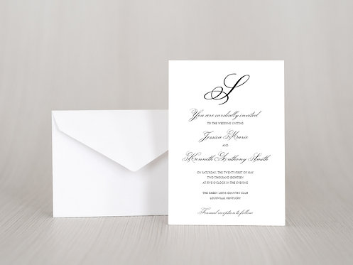 Elegant Calligraphy Wedding Invitation Set