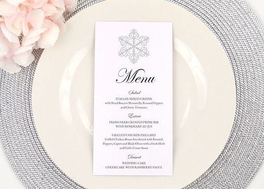 WINTER WONDERLAND Menus (Set of 20)