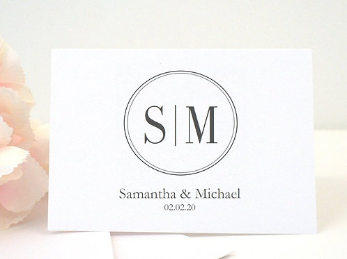 SAMANTHA Thank You Cards & Envelopes (Set of 10)