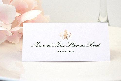 Elegant Pineapple Place Card