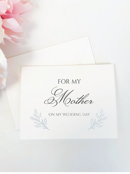 BRITTANY | For My Mother on My Wedding Day Card & Envelope