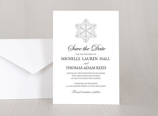 WINTER WONDERLAND Wedding Invitation & RSVP Card w/ Envelopes (Set of 20)