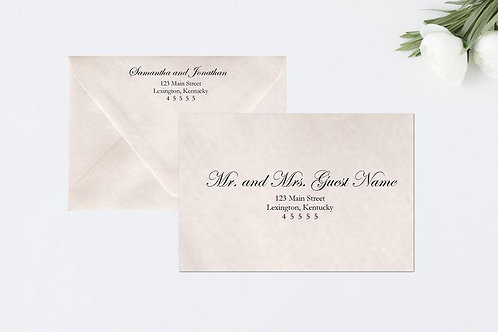 Guest Addressing Add-On for Invitation & Thank You Card Orders