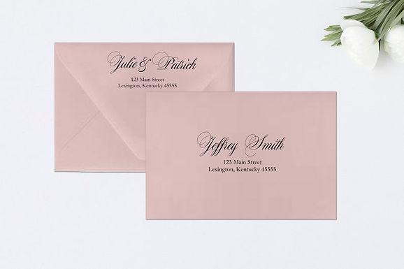 FORMAL AMPERSAND Addressed Envelopes Style #109 (Set of 20)