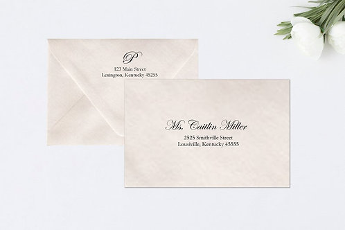 KATHERINE Addressed Envelopes Style #102 (Set of 20)
