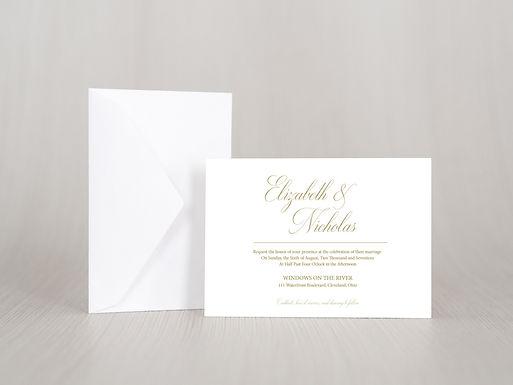 ELIZABETH Wedding Invitation & RSVP Card w/ Envelopes | Set of 15