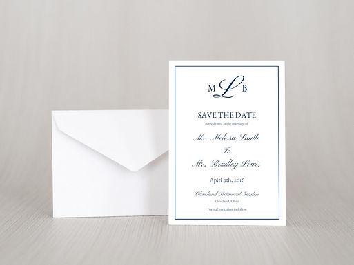 MELISSA Save the Date Invitation & Envelope (Set of 20)