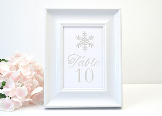 WINTER WONDERLAND Table Numbers