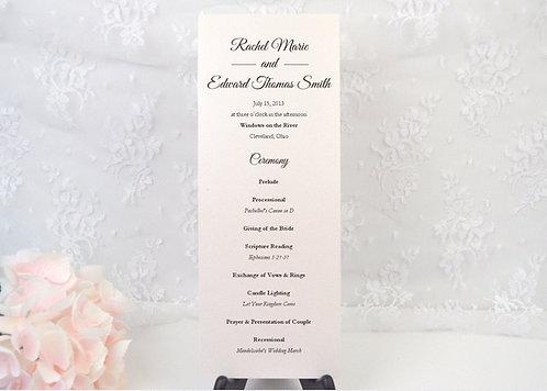 Elegant Script Ceremony Program