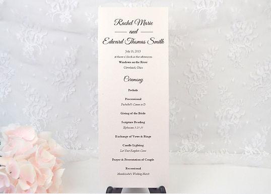 ELEGANT SCRIPT Ceremony Wedding Programs (Set of 20)