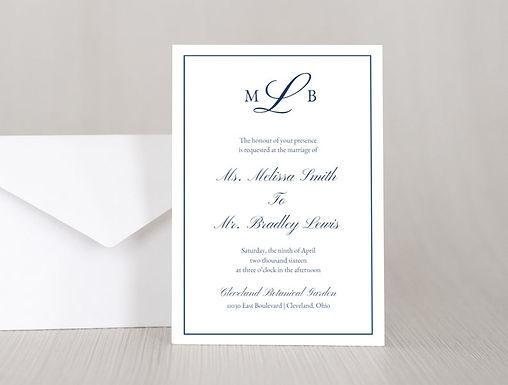 MELISSA Wedding Invitation & RSVP Card w/ Envelopes (Set of 20)