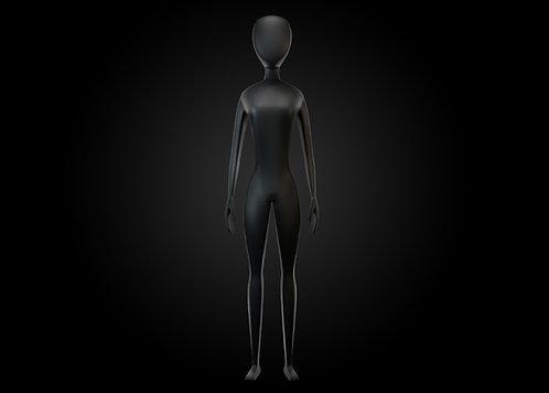 Modelo 3D y Rig: Mujer