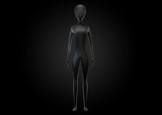 MODELO 3D: Mujer + Rig