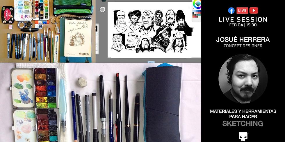 Materiales y Herramientas para hacer Sketching