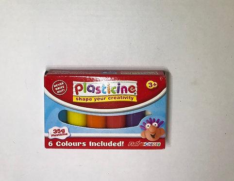 Plasticine Mini Block 6 colours (GX1)